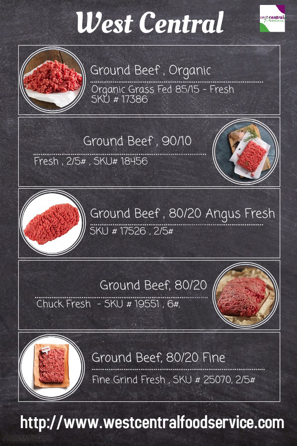 Ground Beef Specials from West Central Food Services