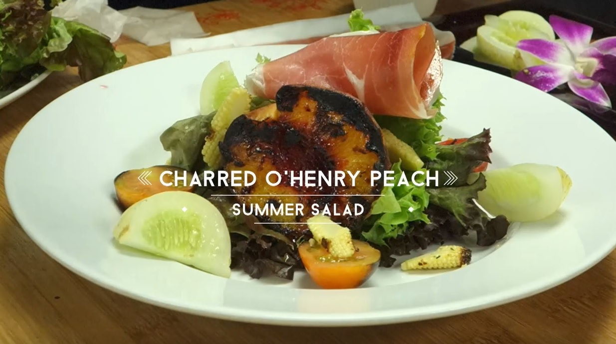 Fresh Peach Summer Salad Recipe