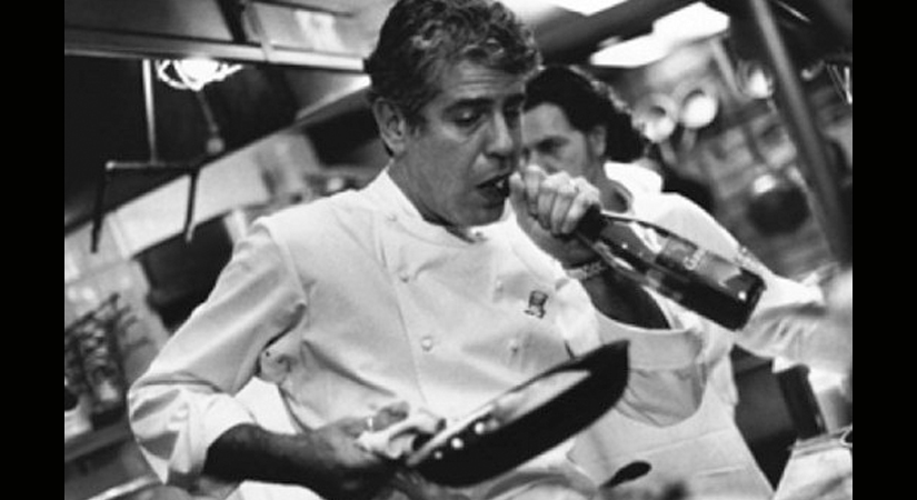 Anthony Michael Bourdain Cooking with Wine